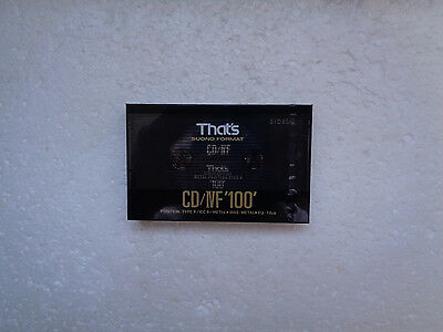 Vintage Audio Cassette THAT's CD/IVF 100 * Rare From 1990 *