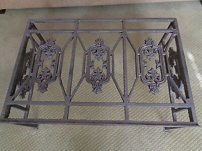 Beautiful Antique Repurposed Baltimore Cast Iron Window Keep/Grate Coffee Table