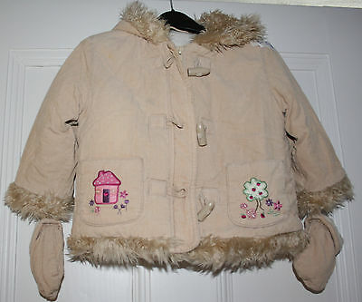 Girls coat with gloves age 12-18 months Ladybird