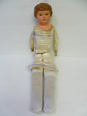 "Old Antique Germany Tin - Metal Head Doll 22"" (Needs Repair) Sold As-Is"