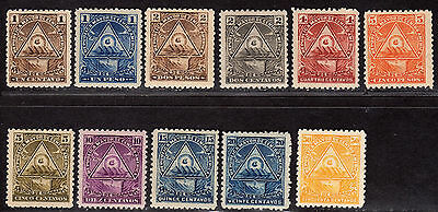 $Nicaragua Sc#99-109 M/H/F-VF, complete set, some gum adhesions, Cv. $120.55