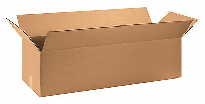 "Box Partners Long Corrugated Boxes 36"" x 12"" x 10"" Kraft 15/Bundle 361210"