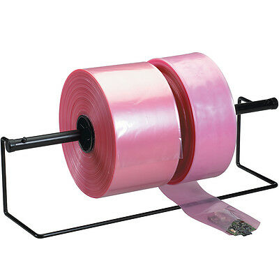 "Box Partners Anti-Static Poly Tubing 2 Mil 10"" x 2150' Pink 1/Roll PTAS1002"