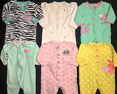 Girls 3 Month Sleeper Pajama Lot Cotton Footed Carters Koala Baby