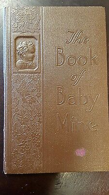 Vintage 1940 Book of Baby Mine (baby record book)