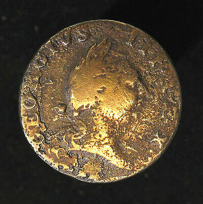1773 Colonial Virginia USA Half 1/2 Penny George III British Revolutionary War