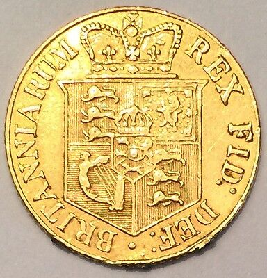 1820 George III Gold Half Sovereign coin