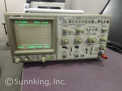 Leader 3100D Digital Storage Oscilloscope 100MHz Portable 2-Channel Monitor