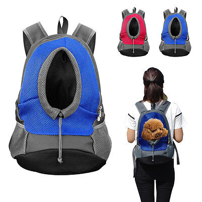 Dog Carrier Bag Pet Cat Puppy Front Mesh Travel Note Bag Backpack for Small Dog