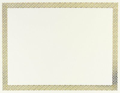Great Papers! Braided Foil Certificate, 8.5 x 11 Inches, 12 Count 936060