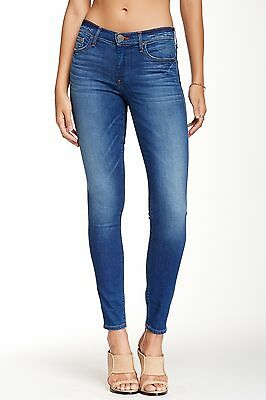 NWT True Religion Halle Mid Rise Super Skinny Jeans - Crystal Spring Drive Blue