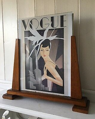 Large, Iconic Art Deco Vintage, Wooden Picture Frame