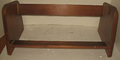 "Vintage Mid-Century 16 7/8"" Wooden Bookends Desktop Book Ends Rack Shelf"