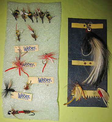 Bundle of 17 Weber Vintage Flies