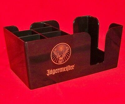 Jagermeister Deluxe Bar Caddy Napkin Swizzle Stick Holders - New in Box!