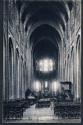 BELGIAN POSTCARD  Mons Church Sainte Waudru The Nave C1910