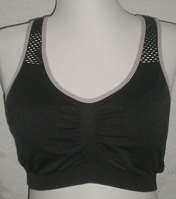 6914b5fc47 Women s Unbranded Black Racer-back Padded Wire Free Sports Bra Size M 32-40