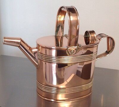 VICTORIAN copper watering can HENRY JAMES HOOKHAM BIRMINGHAM STAMPED TO BASE