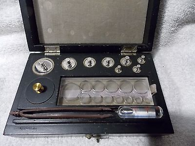 Vintage Collectible Christian Becker Calibration Set In Case B-1340-Weights-Comp