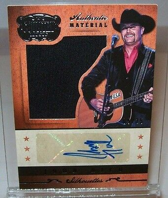 John Rich 2014 Panini Country Music Autographed Material Card 09/25 Made