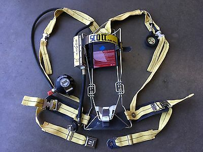 Scott 2.2 SCBA Air Pack Harness Firefighter Air Pak Excellent Condition (AA)