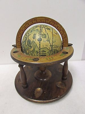 Old World Vintage Looking Globe Pipe Stand