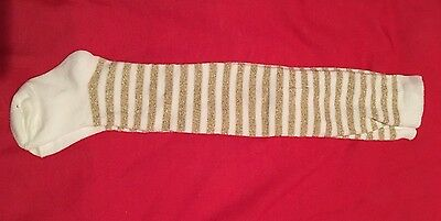 baby girls tights 3-6 months Gold White Stripes BNWOT