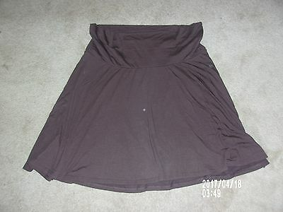 Old Navy Maternity Fold Over Coffee Brown Knit Skirt size XXL New with package!
