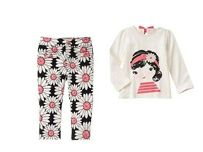 NWT Gymboree KITTY IN PINK SZ 2T 3T 4T 5T Girl Tee Top & Daisy Pants
