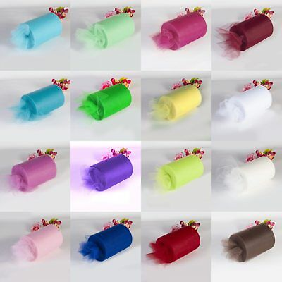 "6""x25/100Y Tulle Roll Spool Tutu Wedding Gifts Craft Party Decoration Fabric"