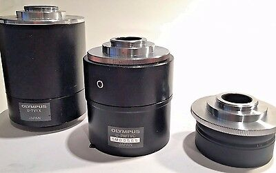 (3) Olympus C-Mounts For Bh Microscopes, Sell As A Set