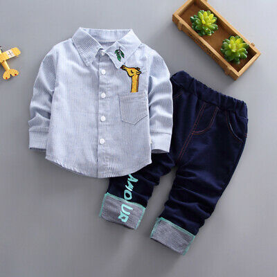 Kids Baby Boys Clothing Suits Infant Boy Clothes Outfits Sets Tops + Pants Set