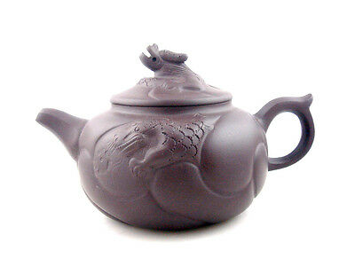 Chinese YiXing Zisha Clay Dragon LARGE Teapot Dragon Head TEA CEREMONY 425ML