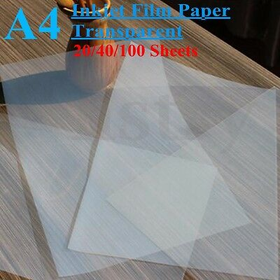 A4 Screen Printing Transparent Inkjet Film Paper Stencil Design 20/40/100 Sheet