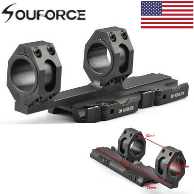 US Quick Release 25mm-30mm Ring Scope Mount QD Auto Lock 20mm Rail 4 Rifle Hunt
