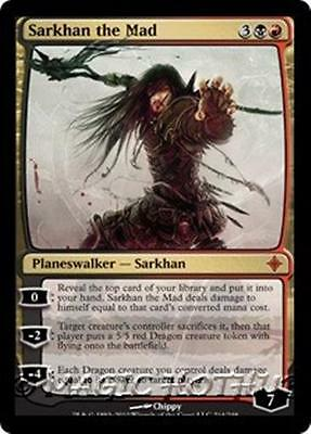 SARKHAN THE MAD Rise of the Eldrazi MTG Gold Planeswalker Dragon MYTHIC RARE