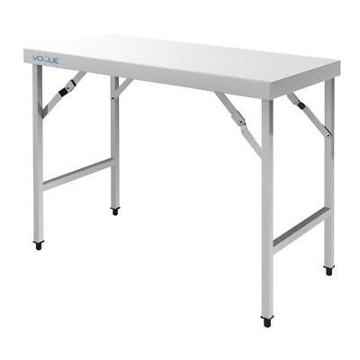 Vogue Stainless Steel Folding Table 1800mm BARGAIN