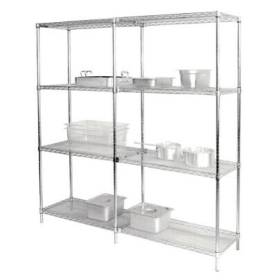 Vogue (Pack of 2) Chrome Wire Shelves 1220x457mm BARGAIN