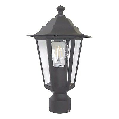 Outdoor garden pole post mounted coach lamp / lantern
