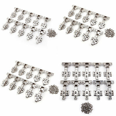 10 110°Kitchen Cabinet Cupboard Corner Door Hinges Combination Full Overlay 40mm
