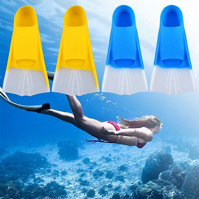 Summer Adult Youth Silicone Swimming Snorkeling Training Short Fins Swim Flipper