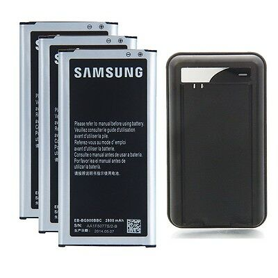 3x Battery + Charger for Samsung Galaxy S5 SV SM-G900P Sprint SM-G900T T-Mobile