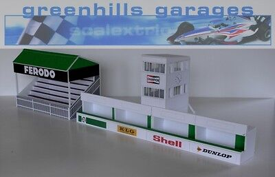 Greenhills Scalextric Slot Car Buildings Goodwood Starter Pack Kit 1:43 scale...