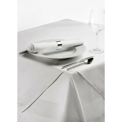 Satin Band Tablecloth White 89cm BARGAIN
