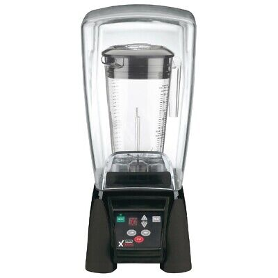 Commercial Waring Xtreme Hi-Power Blender Mixer With Noise Lid Mx1100Xtx-S