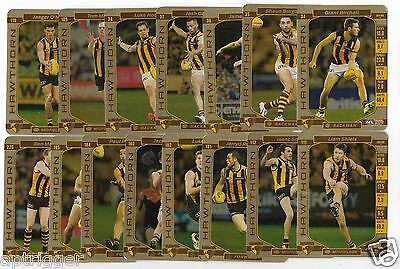 2017 Teamcoach HAWTHORN Gold / Silver Team Set (15 Cards)