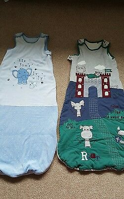 2 x 2.5 tog baby sleeping bags size 18-24 months
