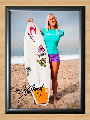 Bethany Hamilton Surfing Surfer Surf Signed Autograph A4 Poster Photo Print 1