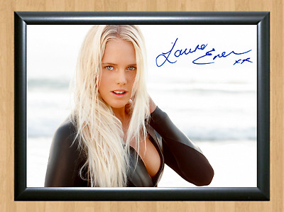 Laura Enever Surfing Surfer Surf Signed Autograph A4 Poster Photo Print Board 1