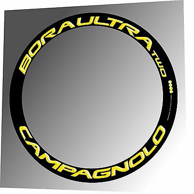 CAMPAGNOLO BORA ULTRA 35 3D CELESTE /& DARK REPLACEMENT RIM DECAL SET FOR 2 RIMS